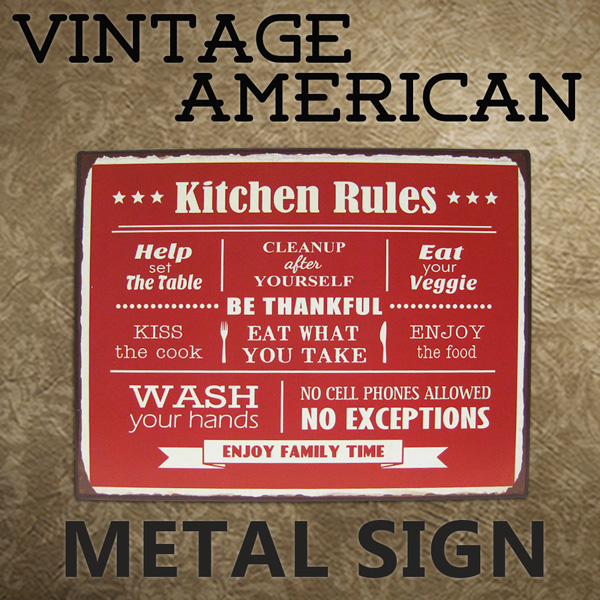 American Tin Sign KITCEN / Kitchen (CA/TWA008) Tilin / Metal Sign Signs  Garage Vintage Gadgets American Gadgets American Grocery Signs