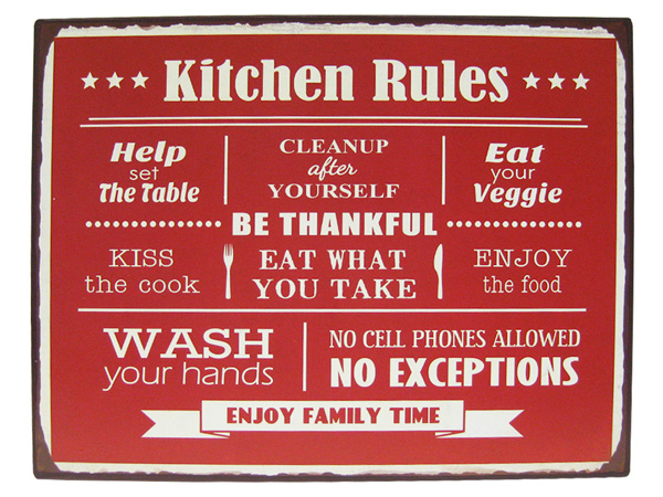 Genial American Tin Sign KITCEN / Kitchen (CA/TWA008) Tilin / Metal Sign Signs ...
