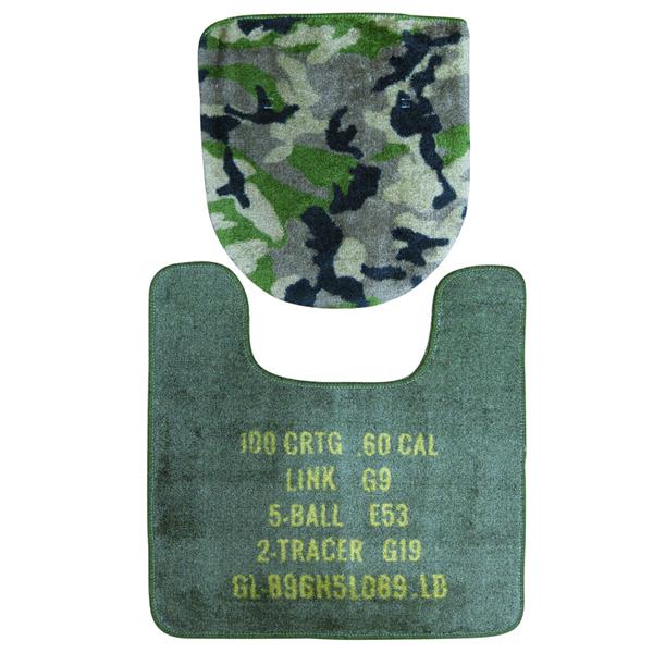 世田谷基础厕所垫子&覆盖物2分安排(伪装色/FL-1487)陆军军事所美国杂货美国杂货车库