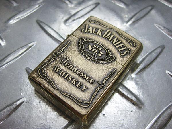 ZIPPO ジッポ ライター ジッポライター Jack Daniel's Old No. 7 Label エンボス/ゴールド ジャックダニエル アメリカン雑貨 アメリカ雑貨 ジッポ