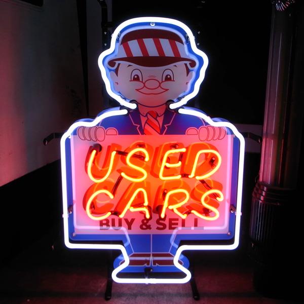 ネオン 看板 ネオン管 ネオンサイン 送料無料 雑貨 アメリカ かっこいい オシャレ インテリア USED CAR クラシックカー カフェ インスタ インスタ映え 海外看板 アメリカン雑貨 ショップ インテリア