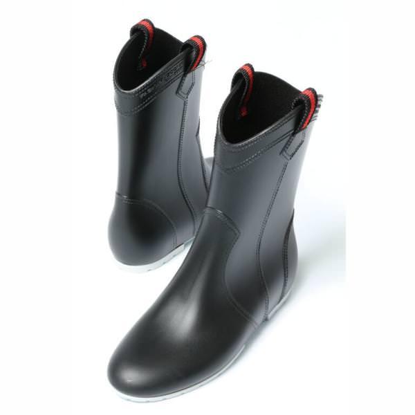 超歓迎された 迅速な対応で商品をお届け致します FABIO RUSCONI ファビオ ルスコーニ 再入荷 805 インヒール ラバー レイン fa805-15-black ブーツ 送料無料 ブラック 200 ヒール2.5