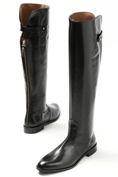 ペルティニ レディース ブーツ 靴 Pertini 00S9198 バックジップ レザー ロングブーツ ヒール2.5 / ブラック【送料無料】 pe9198-black 200