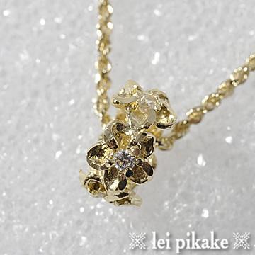 レディース ネックレス ハワイアンジュエリー ラッピング ゴールド 14Kピンクゴールド メール便送料無料 ペンダントヘッド プルメリアペンダントヘッド プレゼント