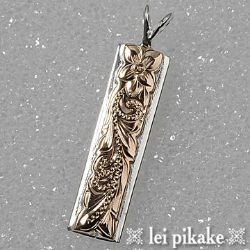 ハワイアンジュエリー シルバー925 ペンダントヘッド ネックレス 2two-toneプレートペンダントヘッド プレゼント ラッピング レディース