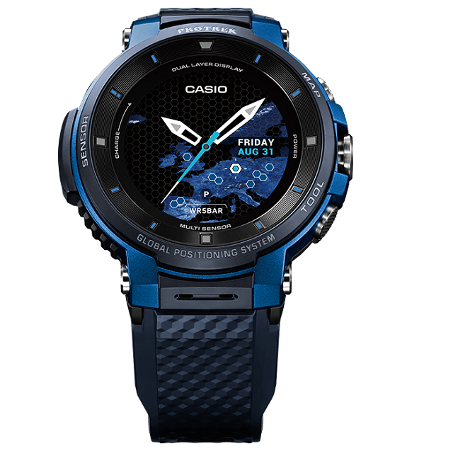 【送料無料】新品 正規品 CASIO スマート アウトドアウォッチ プロトレックスマート GPS搭載 WSD-F30-BU