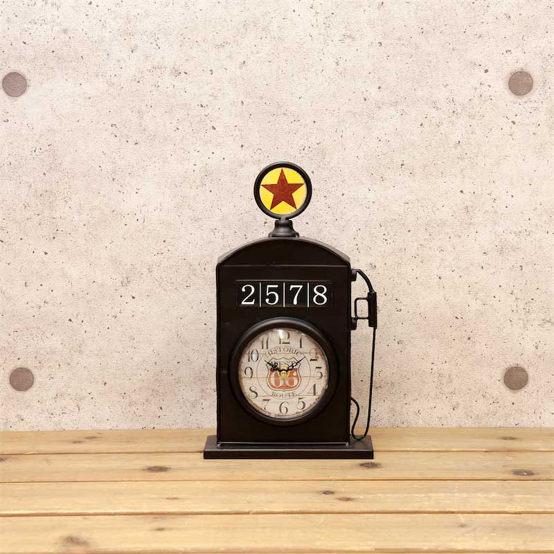 Table clock fashion antique Texas clock three colors development GAS STATION