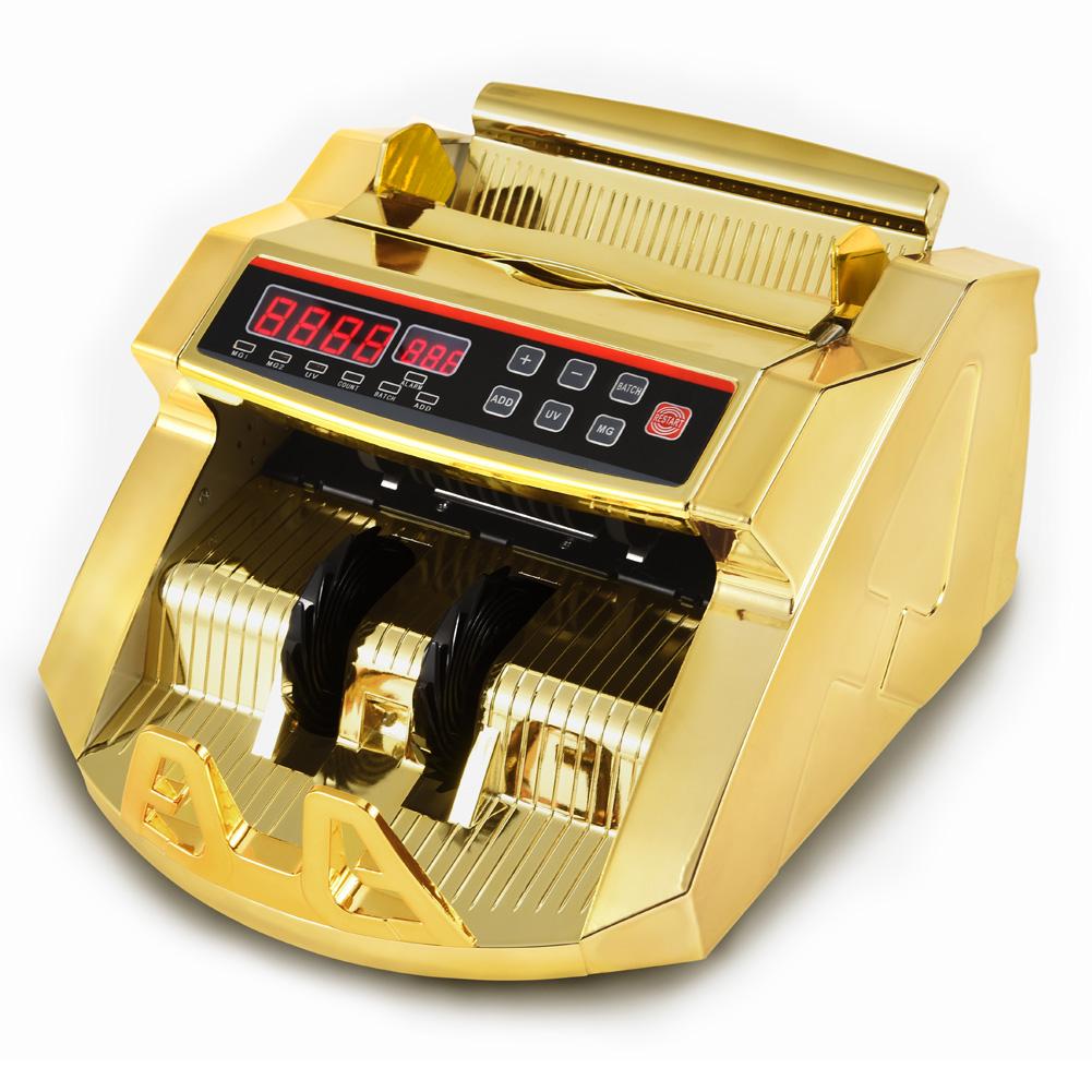 マネーカウンター 紙幣計数機 オリジナルカラー ゴールド 金色 卓上タイプ 高速カウント 据置タイプ 【送料無料】