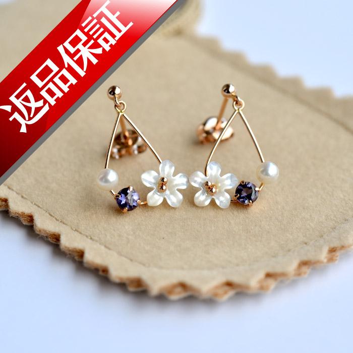 日本製 ピアス K18 お花 フラワー 真珠 パール 18金 真珠 あこや レディース 18k 花びら お花モチーフ 送料無料