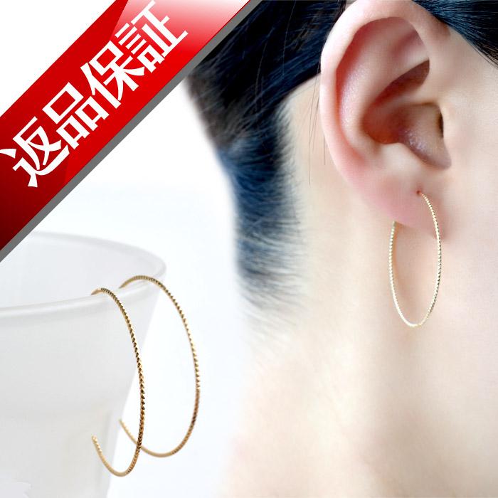 30 Mm Hoop Earrings An Made Her Pring 18 K Las Nickel Free Gold
