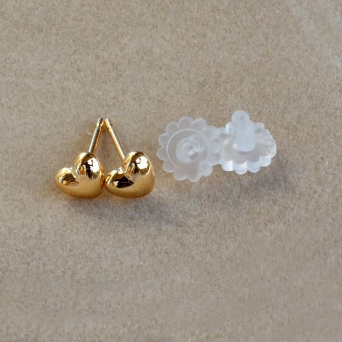 Japan-made earrings ladies 1 pair (2 PCs) K18 18 k 18 k heart momodia Christmas birthday