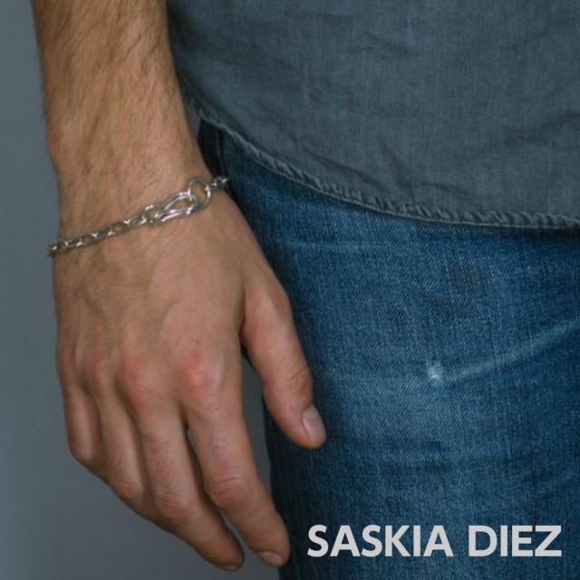 【SASKIA DIEZ サスキア ディツ】ファッショニスタが大注目! BOYFRIEND チェーンリンク シルバーブレスレット メンズ