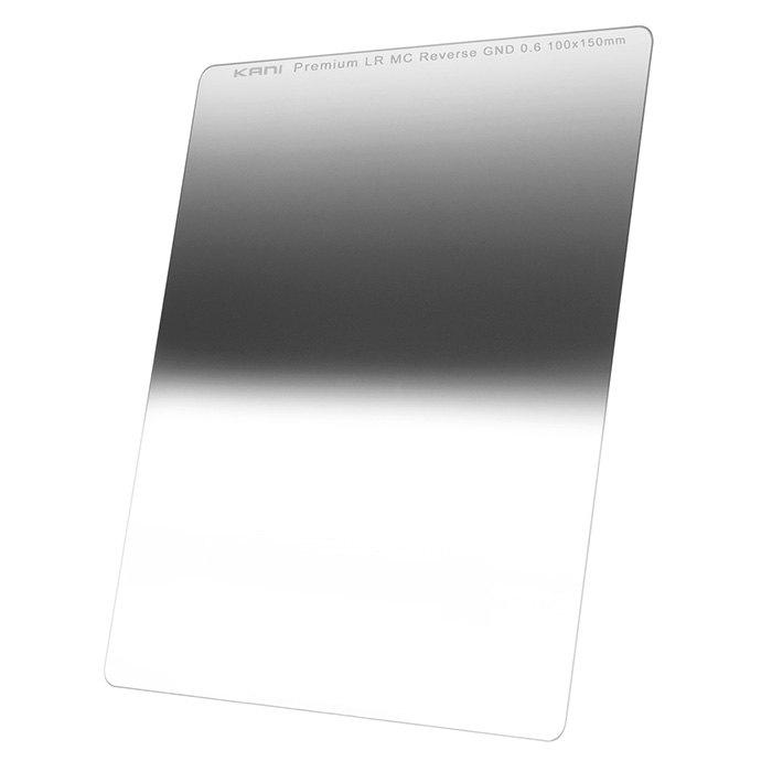 世界最高を目指したリバースハーフND4フィルター セール特価 100mm幅 KANI 角型フィルター ハーフND4 プレミアム 100x150mm レンズフィルター 激安セール 減光効果:最大2絞り分 0.6 リバースGND 角形