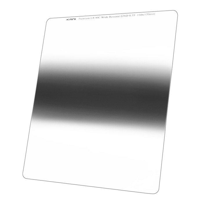 日の出 限定Special Price 日の入りなど中央部を減光 ND6 150mm幅 KANI 角型フィルター 気質アップ プレミアム ワイドリバースGND 0.75 レンズフィルター 150x170mm 3絞り分 角形 ハーフND6 減光効果:最大2 2