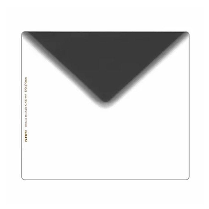 ユニークな三角タイプ 驚きの価格が実現 ハーフND8フィルター 150mm幅 KANI 角型フィルター 変形ND8 無料サンプルOK オブトューストライアングル GND 減光効果:最大3絞り分 0.9 父の日 プレゼント レンズフィルター 角形 150x170mm