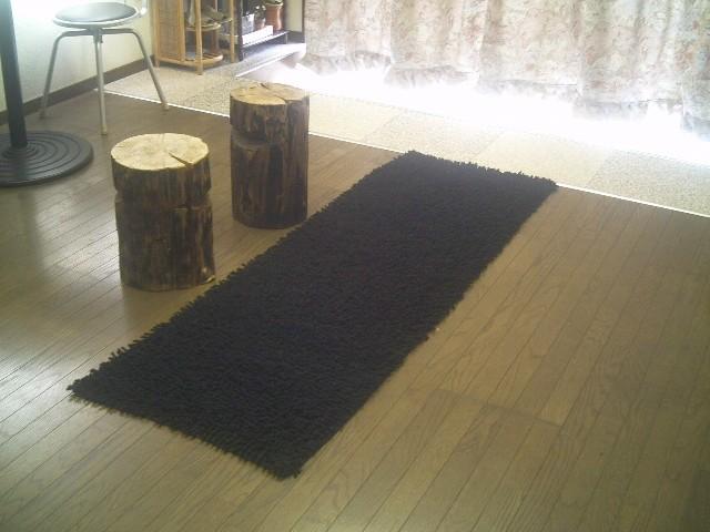 ラグマット 洗える 60×270 天然コットン シャギーラグ 廊下 マット ロング コットン 綿 ホットカーペット カーペット