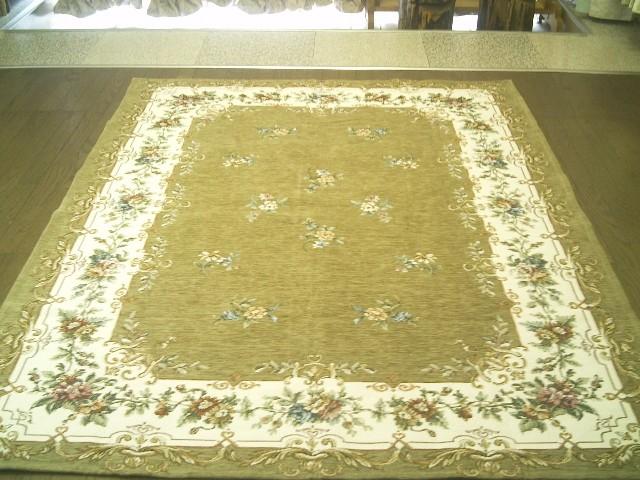 イタリア ゴブラン織 絨毯約 140×190 約 1.5畳 強◆ ラグマット 厚手 北欧 夏 カーペット 絨毯 和み小花