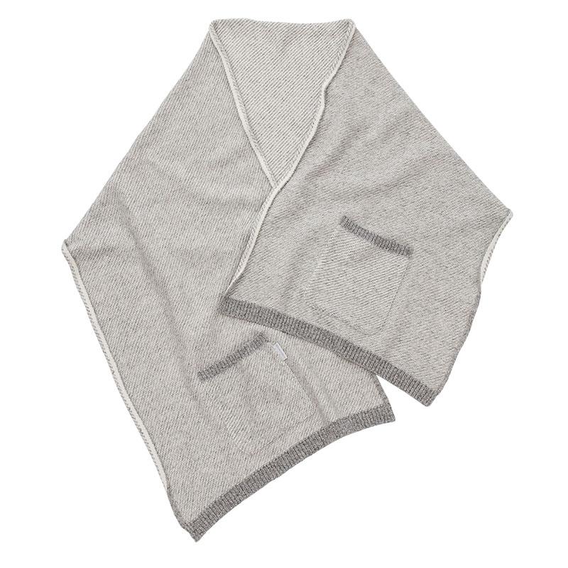 fabuloustyle ファビュラスタイル 綿ウール ポケット付きブランケット