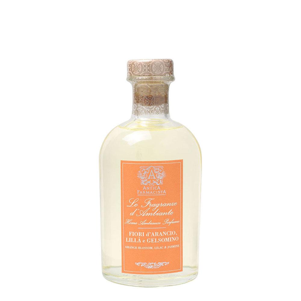送料無料!天然エッセンシャルオイル使用フレッシュなオレンジがさわやかにお部屋に広がるアメリカの人気フレグランスブランド【アンティカファルマシスタ】フレグランスディフューザー(オレンジブロッサム・ライラック・ジャスミン)250ml