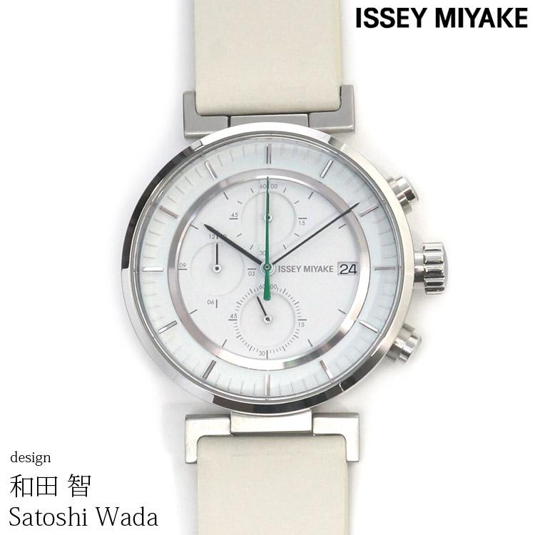 ISSEY MIYAKE イッセイミヤケ 腕時計 和田 智 W ダブリュ 43mm クロノグラフ メンズ レディース ホワイト/ブラック SATOSHI WADA NY0Y001 安心の正規品 代引手数料無料 送料無料 あす楽 即納可能