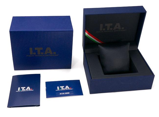 I.T.A. アイティーエー 腕時計 リヴァーレ クロノグラフ ドーム型ガラス メンズ グレー/シルバー/ペトロール レザー RIVALE Ref.29.00.02 安心の正規品 代引手数料無料