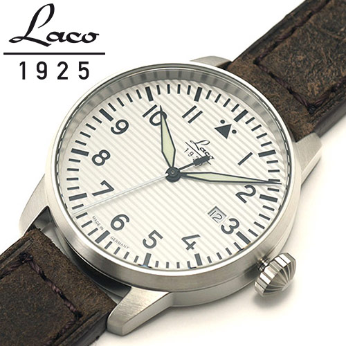Laco ラコ 腕時計 メンズ クオーツ 3針 ドイツ製 パイロットウォッチ バーゼル Basel ref:861971 安心の国内正規品 代引手数料無料  あす楽 即納可能