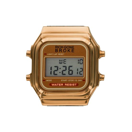 リッチゴーンブローク レディース腕時計 GOLD DIGITAL CASE ゴールドデジタルケース RICH GONE BROKE GDICASE 国内正規品  あす楽 即納可能