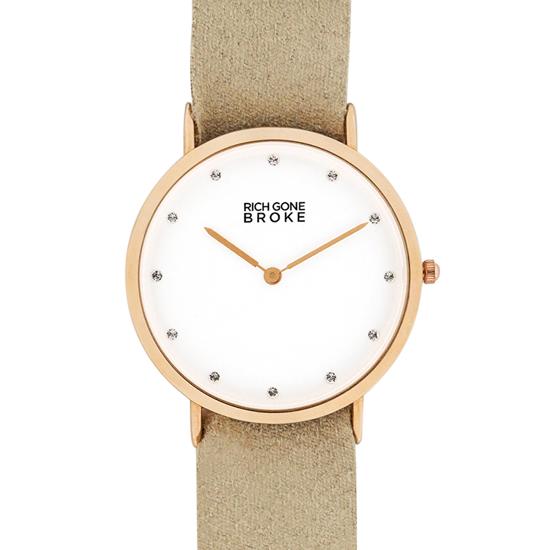 当店のお買い物マラソンはエントリーで更にポイント10倍!19日(土)1:59まで!リッチゴーンブローク レディース腕時計 ストーンローズゴールドマーセルケース RGMDCASE 国内正規品 送料無料 あす楽 即納可能