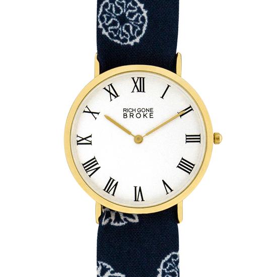 リッチゴーンブローク レディース腕時計 ゴールドマーセル ポピー・ペイズリー RICH GONE BROKE GOLD MARCEL POPPY PAISLEY 国内正規品  あす楽 即納可能