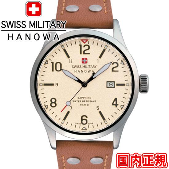 スイスミリタリー 腕時計 アンダーカバー 42mm メンズ アイボリー/ブラウン ML427 SWISS MILITARY UNDERCOVER 安心の正規品 代引手数料無料 送料無料