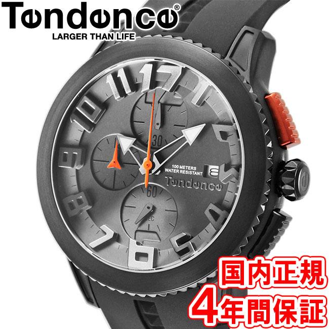 テンデンス 腕時計 ドーム クロノグラフ 47mm メンズ レディース ブラックダイヤル/ブラック/ブラックシリコン Tendence DOME TY016001 安心の国内正規品 代引手数料無料 送料無料