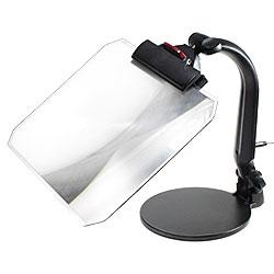 【送料無料】LEDライトが機能UP!手作業も読書もはかどるスタンドルーペ ビッグアイLED-S3 F角型(1.8倍角型フレネルレンズつき)