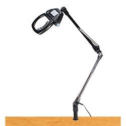 LEDライト付きアームルーペLh7 T3倍(3倍非球面凸レンズつき)
