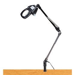 LEDライト付きアームルーペLh7 T4倍(4倍非球面凸レンズつき)