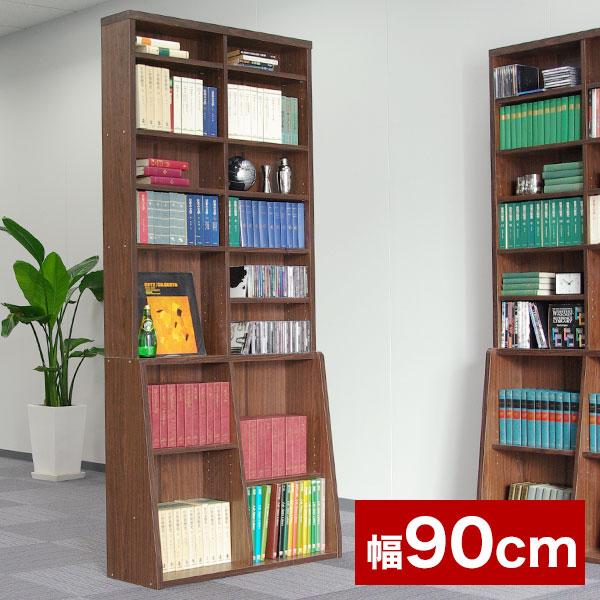 本棚 CDラック DVDラック ブックラック シェルフ シンプル 収納家具 収納 壁面 カラーボックス 通販 スリムラック 組立 可動 大型 書斎 一人暮らし 木製 テレワーク 在宅