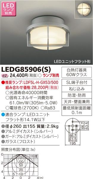 東芝ライテック LEDシーリング LEDG85906S
