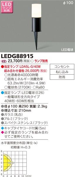 東芝ライテック LEDガーデンライト LEDG88915