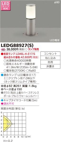 東芝ライテック LEDガーデンライト・門柱灯 LEDG88927S
