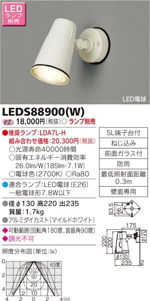 東芝ライテック LEDスポットライト LEDS88900W