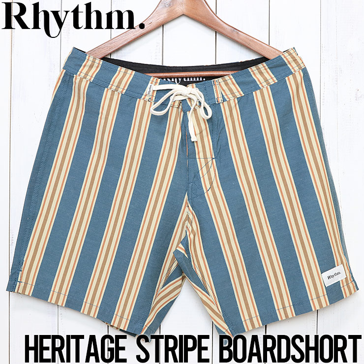 Rhythm リズム HERITAGE STRIPE TRUNK ボードショーツ OCT19M-TR06