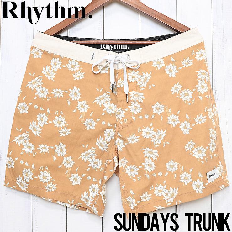 [クリックポスト対応] Rhythm リズム SUNDAYS TRUNK ボードショーツ JAN19M-TR03