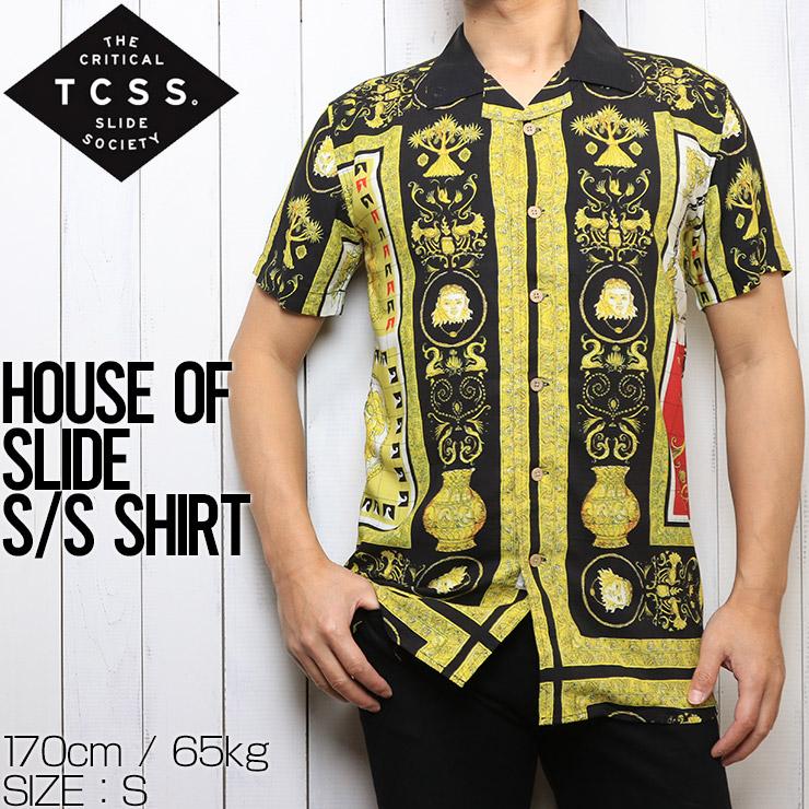 [クリックポスト対応] TCSS ティーシーエスエス HOUSE OF SLIDE S/S SHIRT 半袖シャツ SS1897