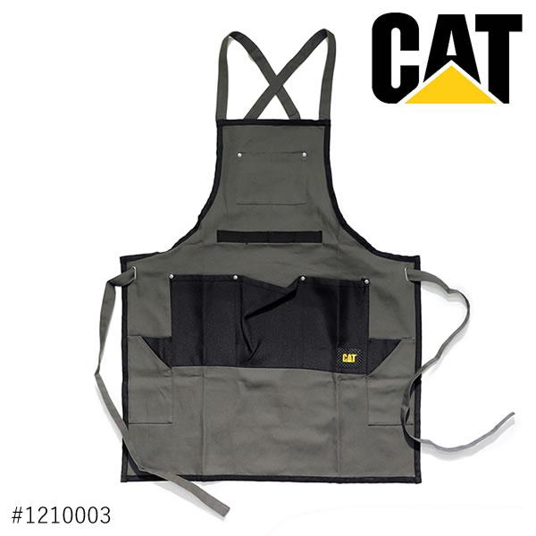 キャット /CAT/CATERPILLAR キャタピラー SHOP APRON 1210003 エプロン メンズ 作業着 ポケット 男性 大工 前掛け DARK SHADOW /ネコポス発送のみ送料無料