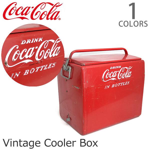 コカ・コーラ/Coca Cola クーラーボックス レトロ ヴィンテージ レッド アメリカン雑貨 ドリンク USA 収納 おもちゃ箱 インテリア ガーデニング USED DIY【あす楽】【送料無料】