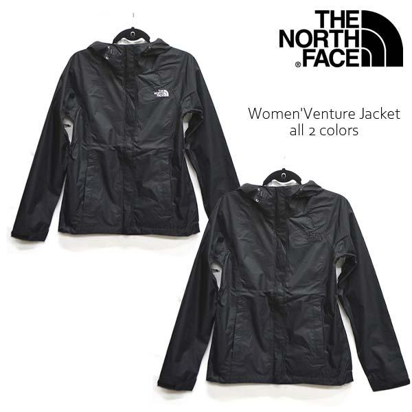 ザ・ノース・フェイス/THE NORTH FACE Women' Venture Jacket NF00A8AS ブルゾン ベンチャージャケット ナイロンジャケット JACKET アウター レディース 人気 長袖 フード アウトドア BLACK US規格/あす楽/送料無料
