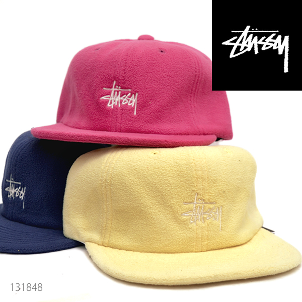 ステューシー/STUSSY/131848 SMOOTH STOCK POLAR FLEECE STRAPBACK CAP キャップ フリース ストリート スチューシー stussy ストラップバック サイズ調整可能 プレゼント ギフト 誕生日 メンズ 帽子 人気 /あす楽