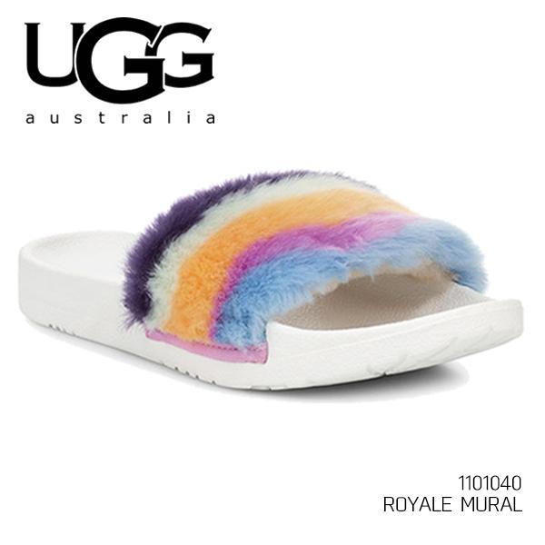 UGG/アグ/正規品 レディース ROYALE MURAL/ロイヤルミューラル シューズ サンダル カジュアル ふわふわ ファー もこもこ オーストラリア シープスキン 1101040 /あす楽/送料無料