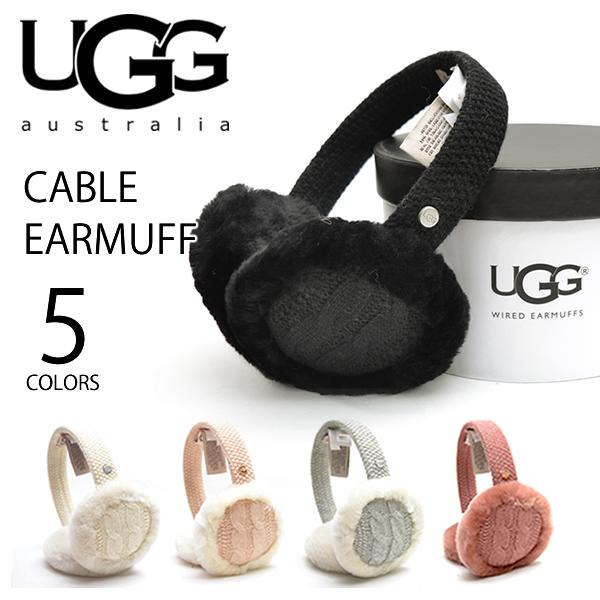 UGG/アグ 正規品 CABLE EARMUFF(17405)/ウィメンズ ケーブルイヤマフ ニット イヤマフ スピーカー内蔵(マイク付)イヤ-マフ もこもこ 耳あて ニット スピーカーテクノロジー プレゼント ギフト /あす楽