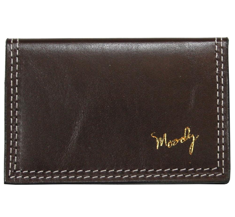 ムーディー レザー 最高級本革レザー ウォレット 爆買い送料無料 メーカー直送 カードケース Moody Chocolate Leather Brown Cream - Wallet