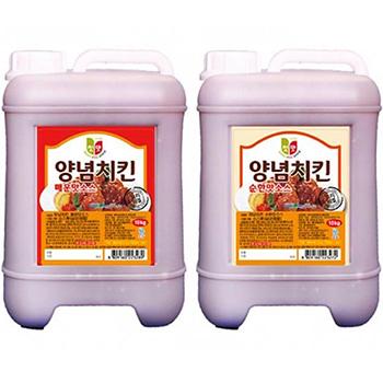 【送料無料】選べる ヤンニョム チキン ソース 10kg 業務用 韓国 食品 食材 料理 色々アレンジできる万能ソース 唐辛子の辛さ にんにくの旨み トマトソース 韓国 チキン 調味料 甘辛 ソース